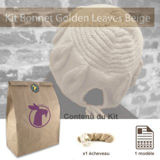 Kit Bonnet Golden Leaves Beige - Madlaine