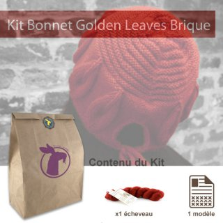 Kit Bonnet Golden Leaves Brique - Madlaine