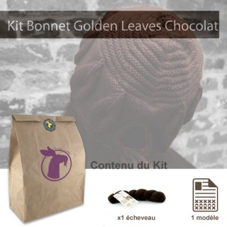 Kit Bonnet Golden Leaves Chocolat - Madlaine