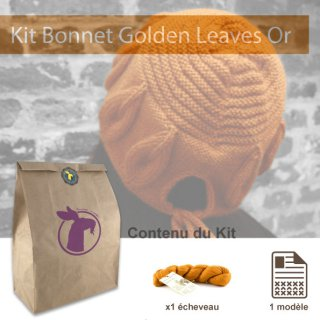 Kit Bonnet Golden Leaves Or - Madlaine