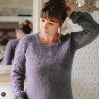 Kit Pullover Silver Leaf Dusty Violet - Madlaine