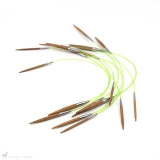 Aiguilles circulaires fixes Bamboo 40cm Hiya Hiya - Hiya Hiya