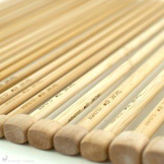 Aiguilles droites Bambou 33/35cm - Clover