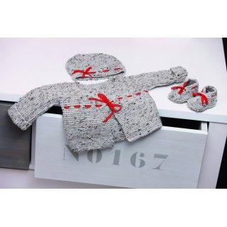 Chaussons bébé Modèle bonnet à passants 104-03 et chaussons kimono 104-04