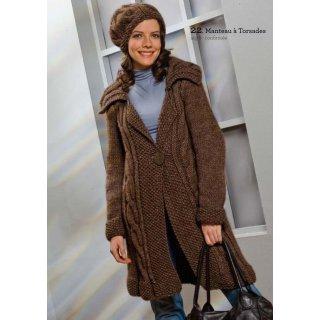 Modèle de manteau à torsades 92-21