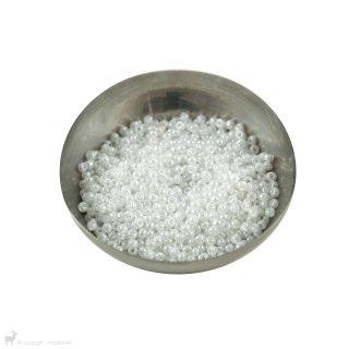 Perles rocailles 8/0 Ceylon White Pearl 528