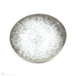 Perles rocailles 8/0 Transparent Crystal 131