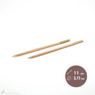 Aiguilles interchangeables Embouts aiguilles circulaires Bambou Click 3,75mm