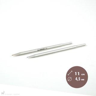 Aiguilles interchangeables Embouts longs aiguilles circulaires Métal Dentelle Click 4,5mm