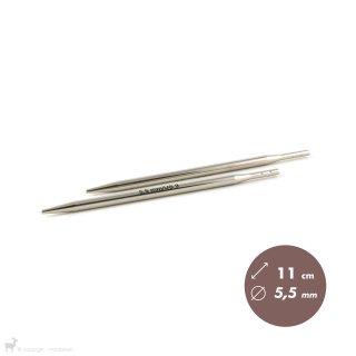 Embouts aiguilles circulaires Métal Click 5,5mm