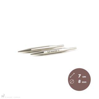 Embouts aiguilles circulaires Métal Dentelle Click 8mm