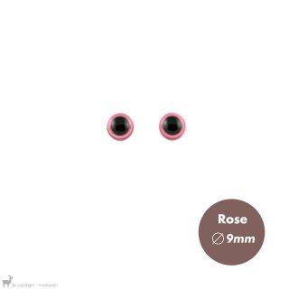Yeux Sécurisés 9mm Rose