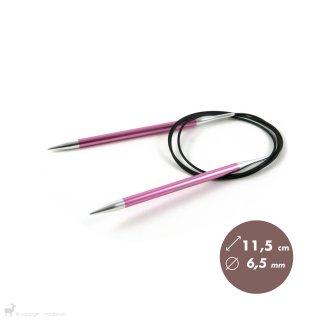 Aiguilles circulaires fixes 100cm Zing 6,5mm