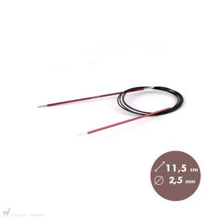 Aiguilles circulaires fixes 120cm Zing 2,5mm