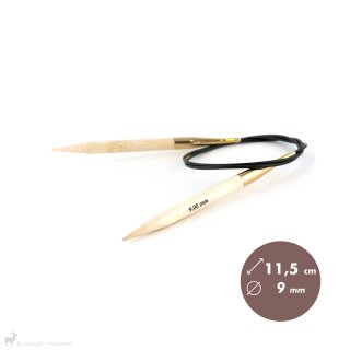 Aiguilles circulaires 80cm Bamboo 9mm