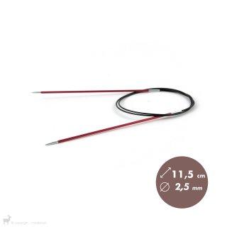 Aiguilles circulaires fixes 80cm Zing 2,5mm