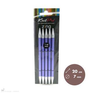 Aiguilles double pointe Zing 20cm 7mm - KnitPro