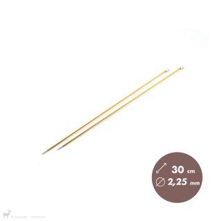 Aiguilles droites Aiguilles Zing KnitPro 30cm/2,25mm