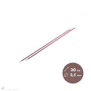 Aiguilles droites Aiguilles Zing KnitPro 30cm/2,5mm