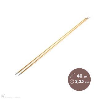 Aiguilles droites Aiguilles Zing KnitPro 40cm/2,25mm
