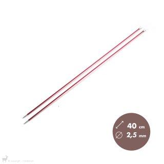 Aiguilles droites Aiguilles Zing KnitPro 40cm/2,5mm