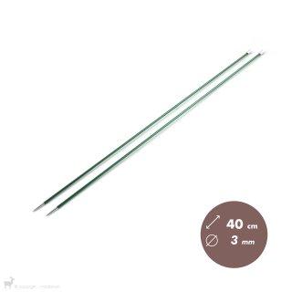 Aiguilles droites Aiguilles Zing KnitPro 40cm/3mm