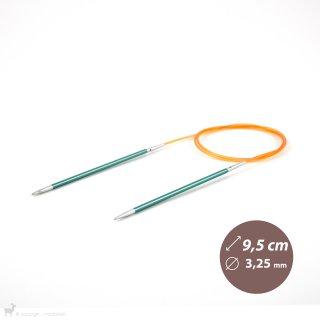 Aiguilles interchangeables Embouts aiguilles circulaires courts Zing 3,25m