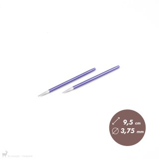 Embouts aiguilles circulaires courts Zing 3,75mm
