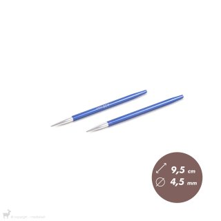 Embouts aiguilles circulaires courts Zing 4,5mm