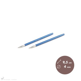 Embouts aiguilles circulaires courts Zing 4mm