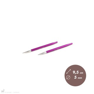 Embouts aiguilles circulaires courts Zing 5mm