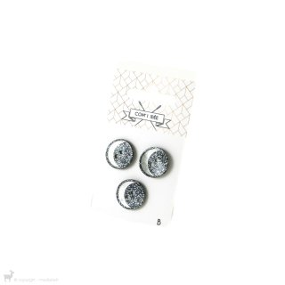 Boutons Boutons 18mm Marine et Lune Nacre