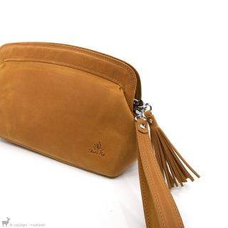 Sacs à projet et trousses Thread And Maple Sac à projets en cuir Camel