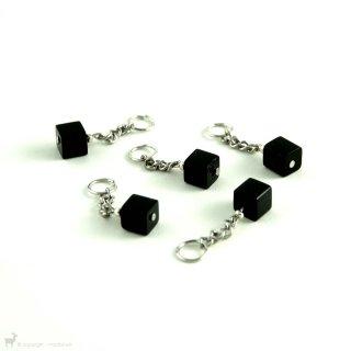 """Anneaux marqueurs """"Cubes Noir""""  004"""