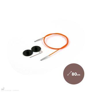 Câble aiguille circulaire orange 80cm