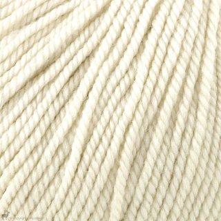 Laine mérinos Soyeuse Blanc Toison 100 Bain 607
