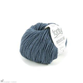 Laine mérinos Soyeuse Bleu Orage 110