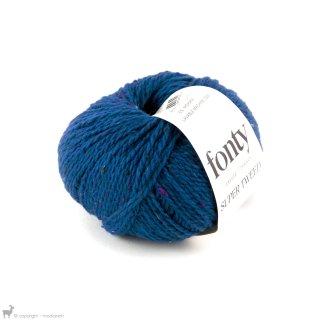 Laine mérinos Super Tweed Bleu Caraïbes 007