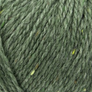 Laine mérinos Super Tweed Vert Mousse 011
