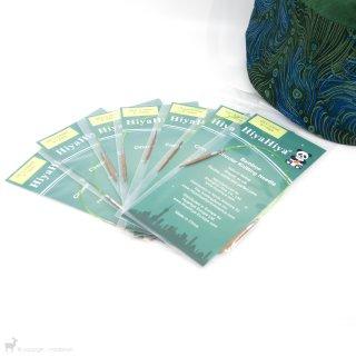 Matériel Kit d'aiguilles circulaires fixes Bamboo Sock 9 inches Hiya Hiya