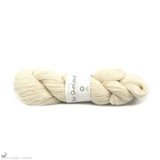 Laine de mouton Bio Shetland Blanc SH39