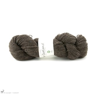 Laine de mouton Bio Shetland Brun Boue SH07