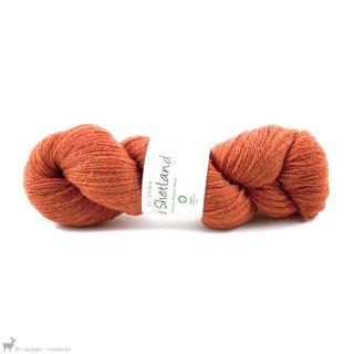 Laine de mouton Bio Shetland Orange Brûlé SH037 Bain 149