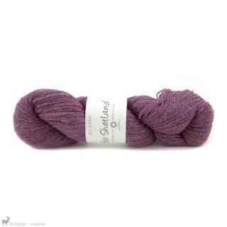 Laine de mouton Bio Shetland Violet Damask SH32