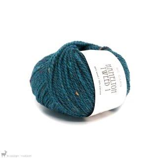 Laine de mouton Hamelton Tweed 1 Bleu Turquoise HX04