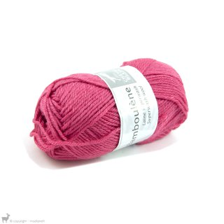 Laine de mouton Bamboulene Rose Hortensia 300