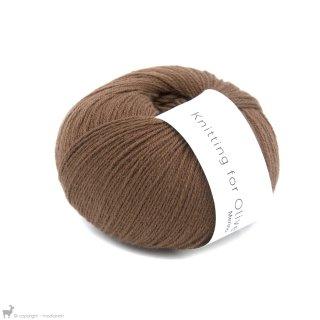 Laine mérinos Knitting For Olive Merino Dark Cognac