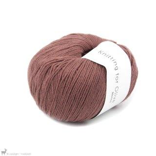 Light Fingering - 03 Ply Knitting For Olive Merino Plum Rose
