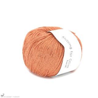 Fil de soie Knitting For Olive Pure Silk Mandarin Orange