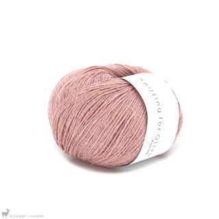 Fil de soie Knitting For Olive Pure Silk Rhubarb Juice